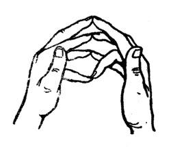 a jobb kéz középső ujjának ízülete fáj)
