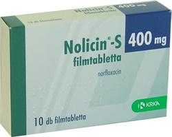 NOLICIN 400 mg filmtabletta