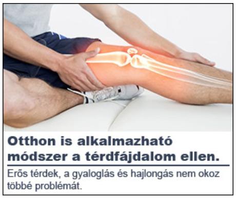 zselatin térd ízületi gyulladás kezelésére)