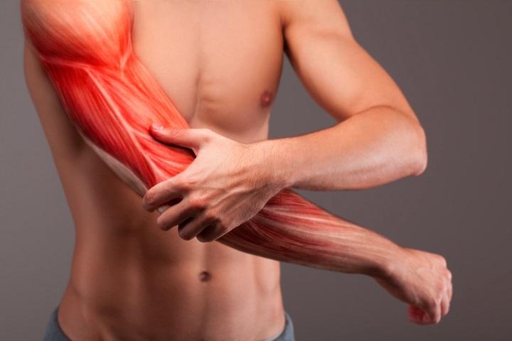 izomfájdalom a karban vagy ízületben)